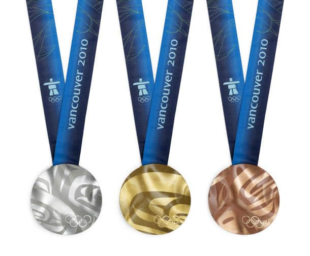 2010 Olympic Medals, recycled electronics
