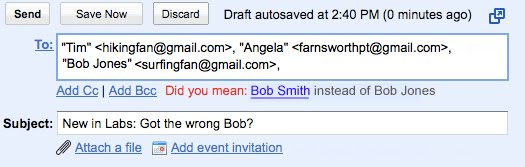 Email: Did you mean THAT Bob?