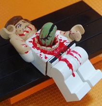 Bloody Alien Lego Man