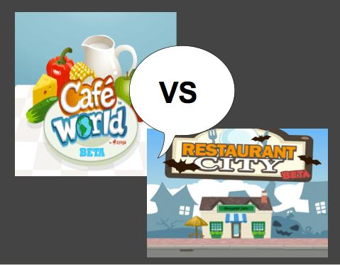 Restaurant City or Cafe' World? #FaceBook Games