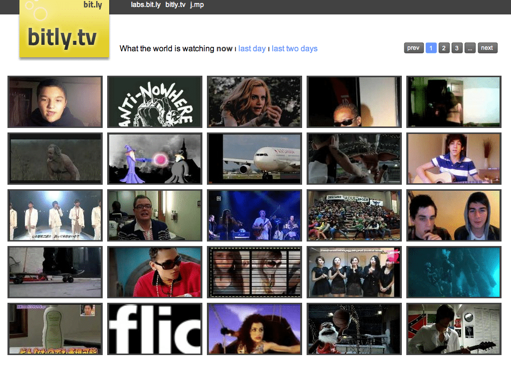 Ever heard of bitly.tv? Ya, me neither