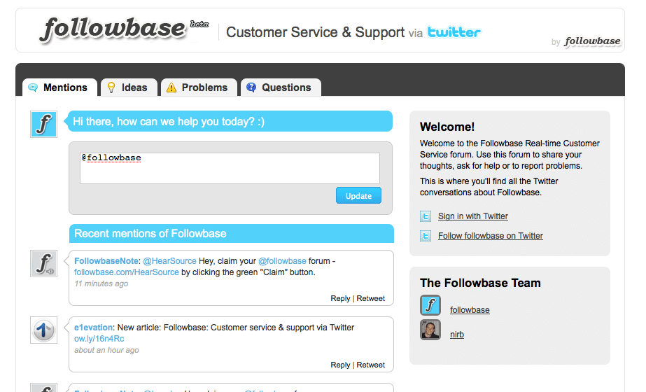 FollowBase | Customer Service and Support via Twitter!