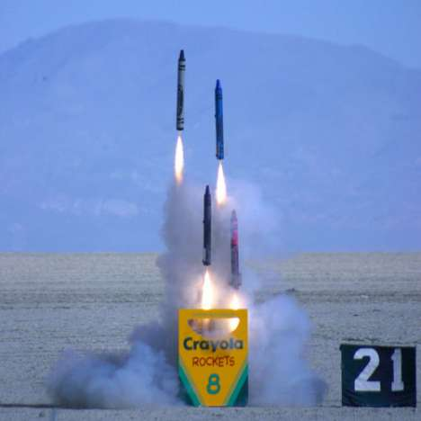 Paint The Sky | Giant Crayola Rockets