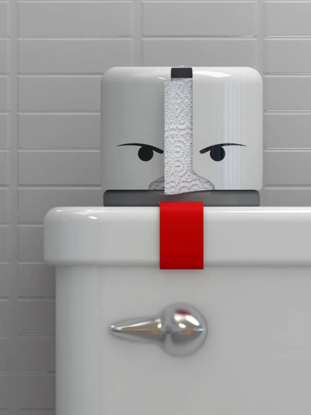 Monster Toilet Paper Keeper   Secure your Shi…