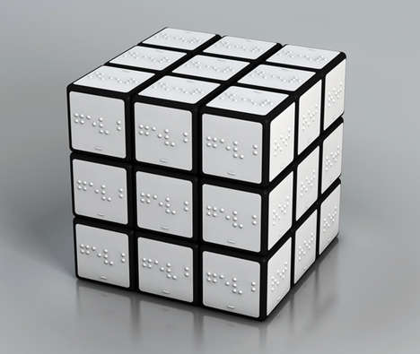 Colored Rubik's Cube For The Blind