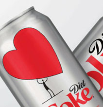 This Diet Coke Can Is Showing Us Some Love