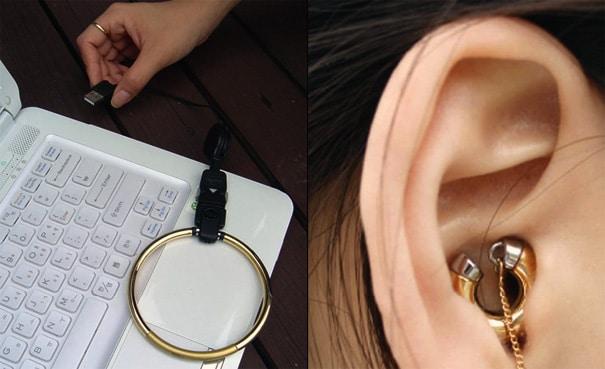 MP3 Earrings