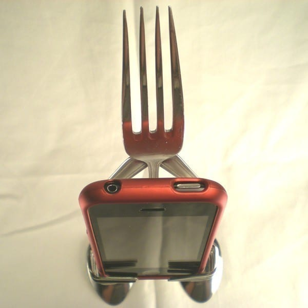 Forked Up: The Most Creative iPhone Stand Yet