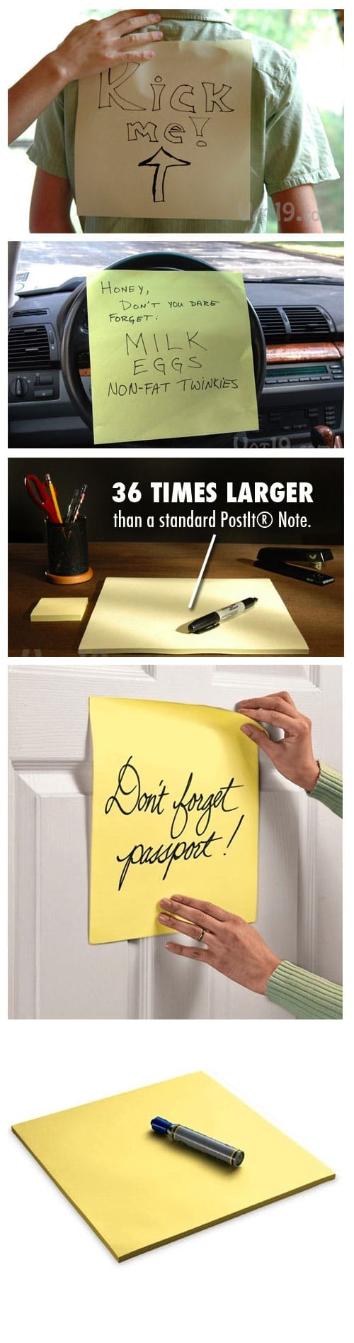 For Serious Sticky Note Addicts - Gigantic Sticky Notes ...
