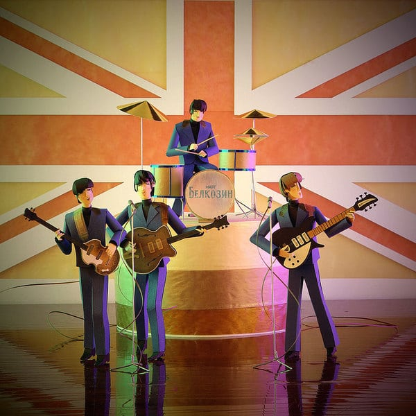 Paper Craft Celebrities: You've Never Seen The Beatles Like This!