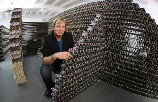 21 Year Old German Designer Builds House Out Of Beer Coasters