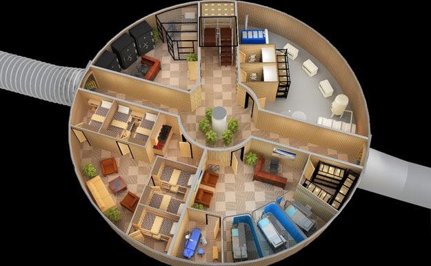 Fascinating doomsday bunker design bit rebels for Kit casa icf