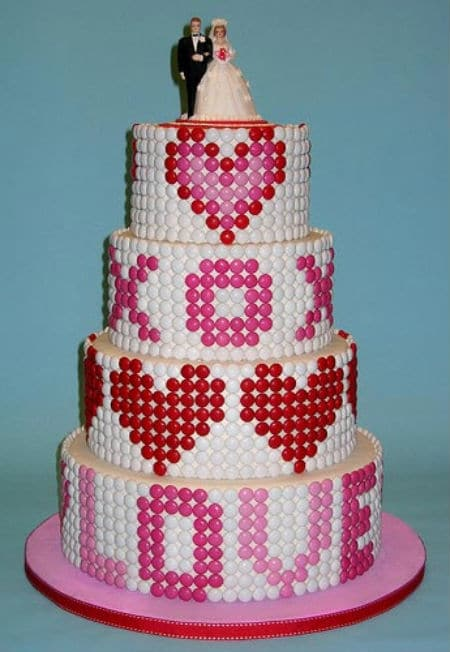 Unusual wedding cakes have your cake and eat it too for M m cake decoration