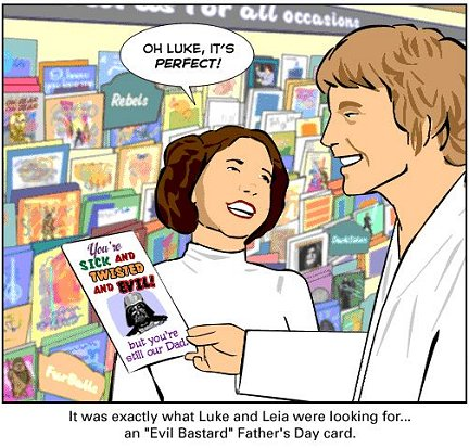 The Father's Day Card Luke and Leia Gave Darth Vader