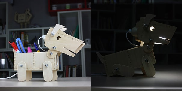 The DIY Doggy Geek Lamp – Let Your Dog Shine