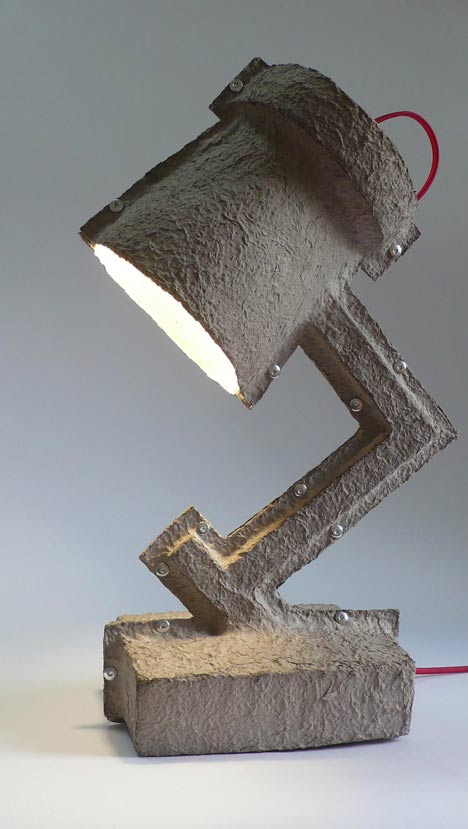 When Design Gets Trashy – The Egg Carton Lamp