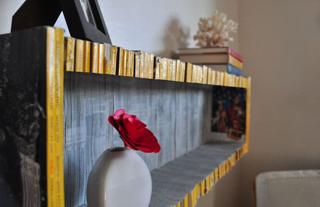 Recycled Magazine Shelf - Home Decor Inspiration