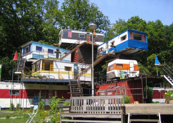 Stacked Trailer Park Housing