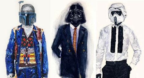 """48c0a3581630 You can check out more of this collection called """"He Wears It – Star Wars &  Fashion"""" on John Woo's site. Great job!"""