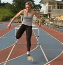 The Fastest 100 Meter Hurdles – Wearing Flippers!