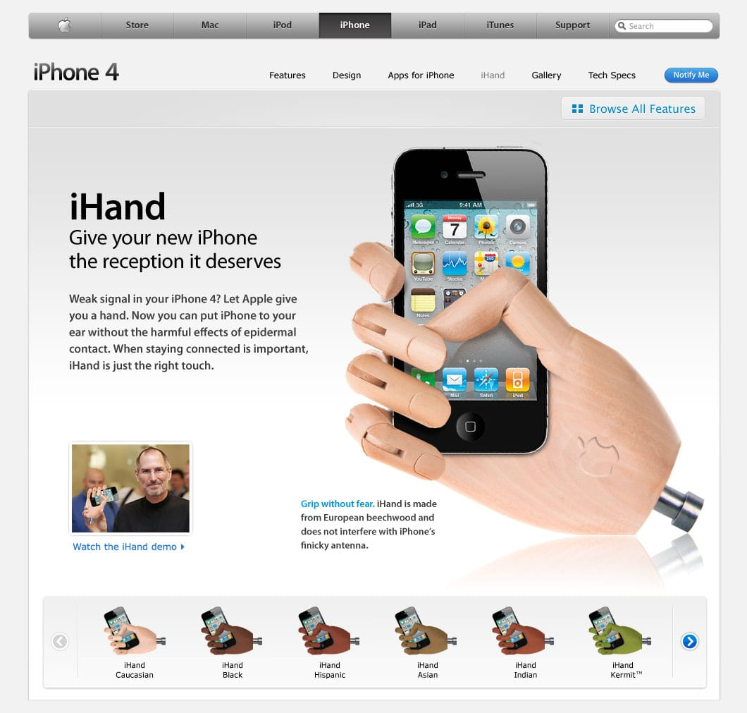 iHand – Your iPhone 4 Connection Problem Now Solved!