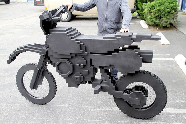 ExciteBike: A Life Size Pixel Bike Is Built!