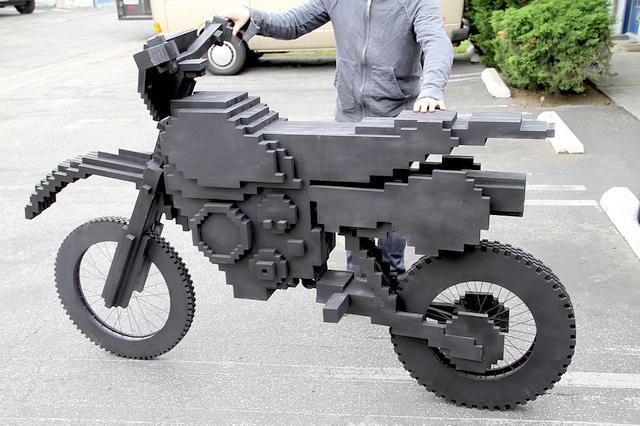 ExciteBike: A Life Size Pixel Bike Is Built!