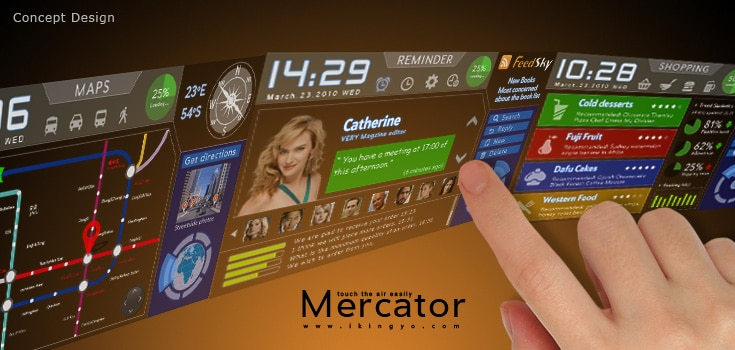 Mercator Cell Phone: The Holographic Wrist Phone UI Is Here!