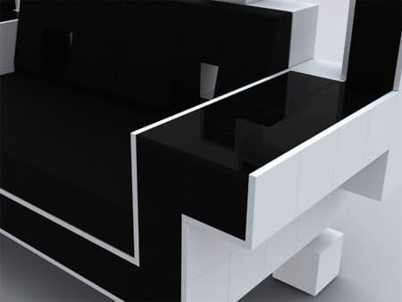 space invaders couch gank the invaders at home bit rebels. Black Bedroom Furniture Sets. Home Design Ideas
