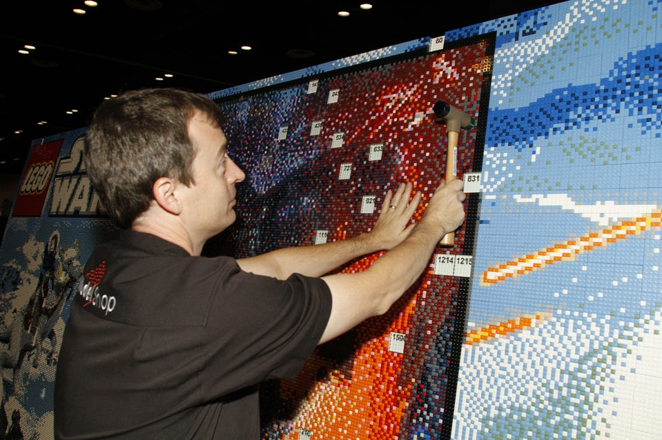Epic Lego Star Wars Mural Build In Time Lapse