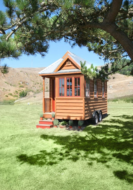 this is a tiny mobile house  but it has everything