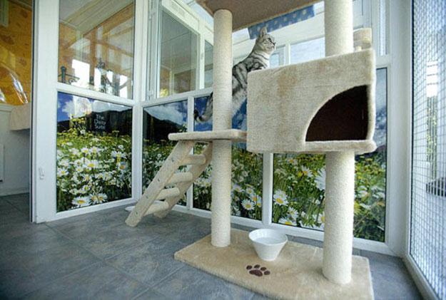 Домик для домашней кошки своими руками фото