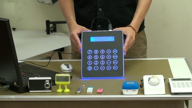 An Illuminated Calculating USB Hub Mouse Pad!