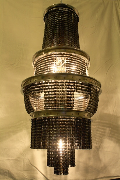 Bicycle Chain Chandelier: No More Running For The Light!