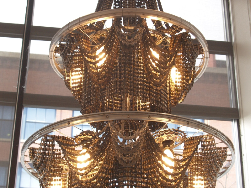 Bicycle Chain Chandelier No More Running For The Light