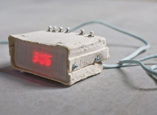 Digital Paper Alarm Clock: The Edge Of 100% Recyclability!