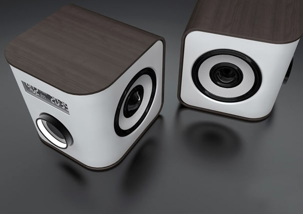 Audiolicious: Cubic Speakers With The Perfect Design Touch