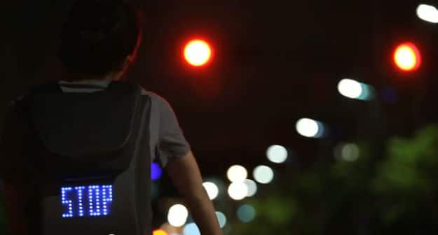Creative Use of LED on a Cyclist's Backpack