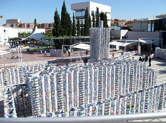 Milk Carton Castle: World's Largest Recycled Sculpture!