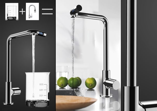 LCD Faucet: Water Goes Digital!