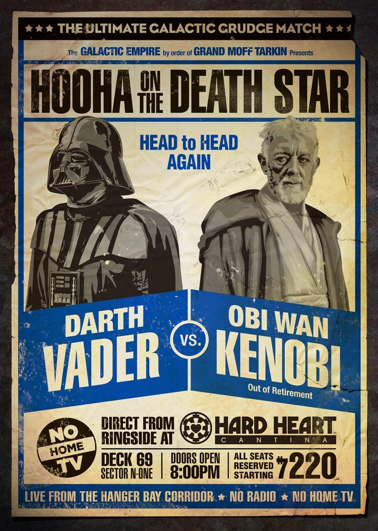 Star Wars Wrestling: The Posters!