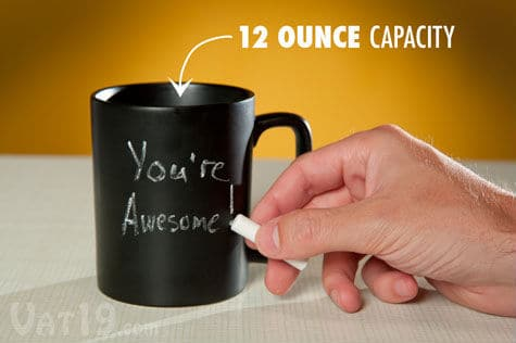 Have Fun: Draw And Doodle On This Coffee Mug With Chalk