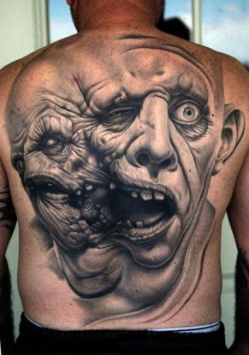 Are tattoos placed on the muscle or between layers of skin?