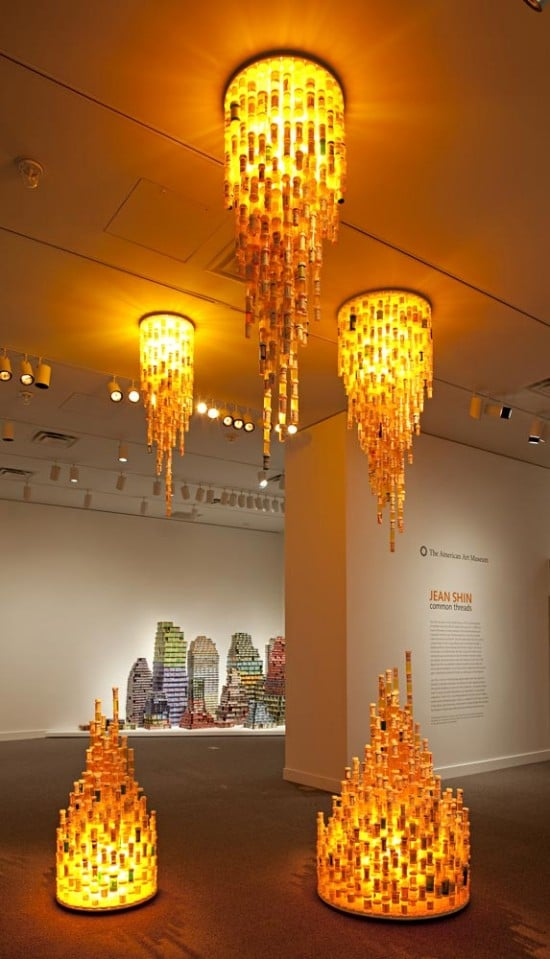 All The World's Pill Bottles Make A Staggering Chandelier