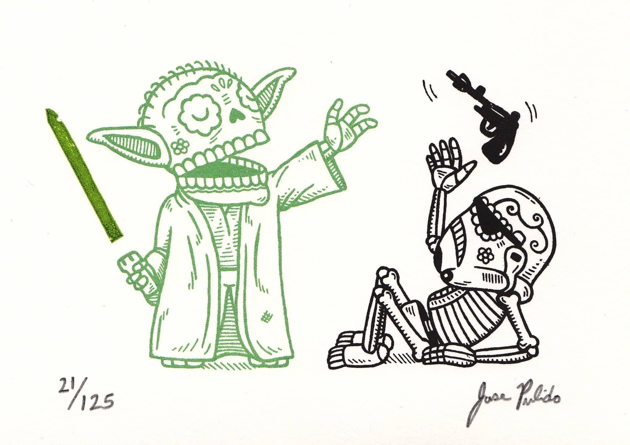 Star Wars In The Form Of Mexican Traditional Art