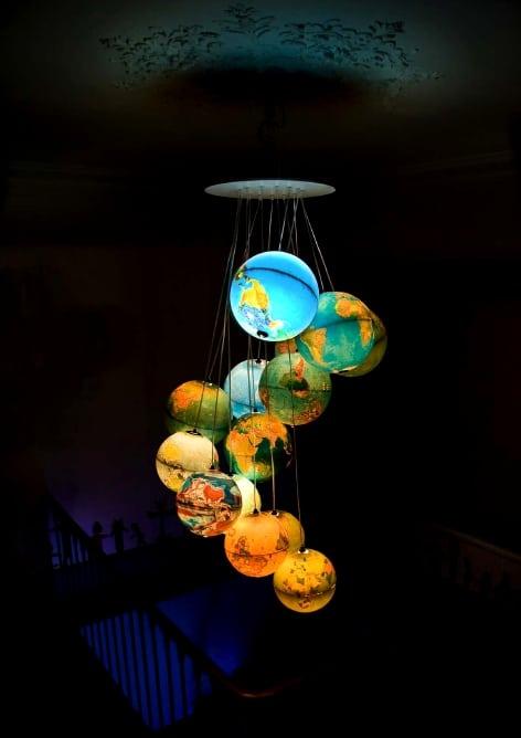 Table globe chandelier finest use of old light globes bit rebels tweet aloadofball Choice Image