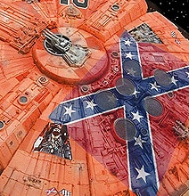 The Millennium Falcon & The General Lee Morph Together