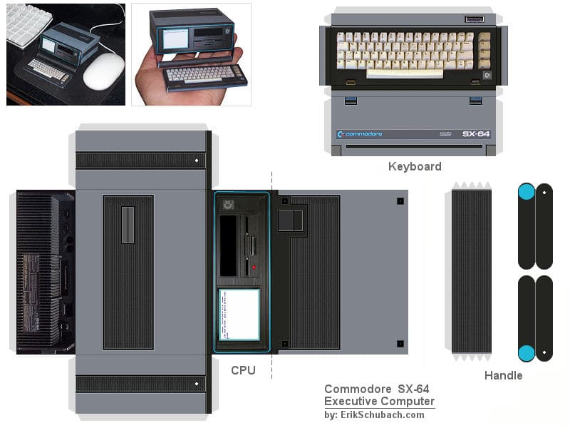 How To: Build Your Own Paper Commodore SX-64