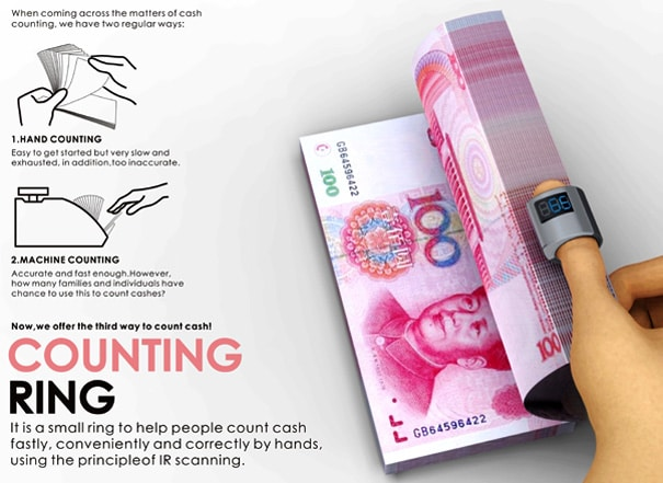 Counting Finger Ring Lets You Count Money… Really Fast!
