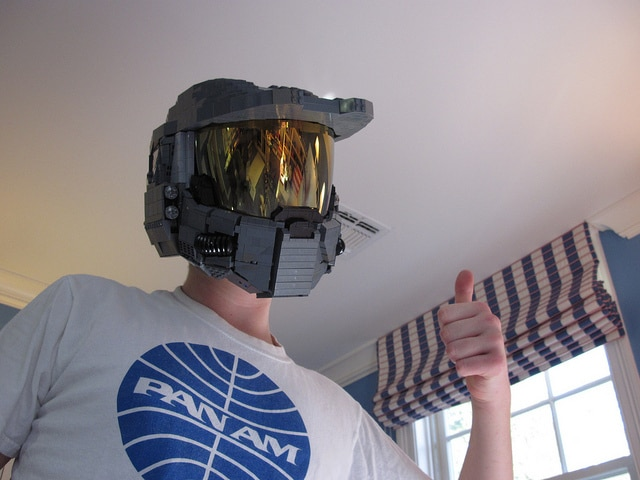 Unreal Wearable LEGO Halo Master Chief Helmet